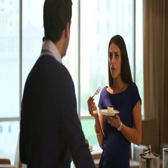 Business colleagues at restaurant. Stock Footage