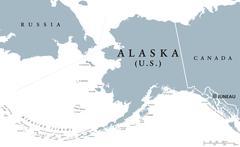 Alaska US state political map Stock Illustration