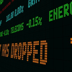 Stock market ticker the stock market has dropped Stock Footage