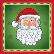 Santa cartoon of Christmas season design Stock Illustration