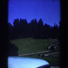 1964: view of the park and waterfall ascending toward the clubhouse. SAINT LOUIS Arkistovideo