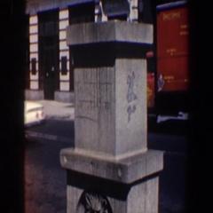 1962: a statue and a house PHILADELPHIA PENNSYLVANIA Stock Footage