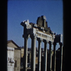 1959: a view of egyptian ancient architecture that was recently found Stock Footage