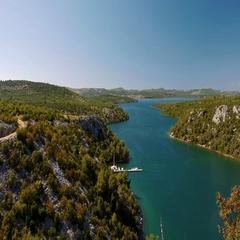 Bridge Over Krka, Croatia Stock Footage