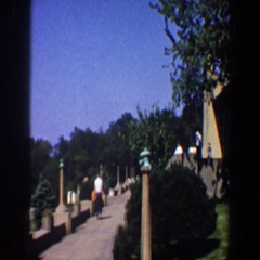 1964: beautiful garden SAINT LOUIS MISSOURI Stock Footage