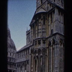 1959: viewing of a very fancy, religious building. PISA Stock Footage