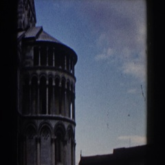 1959: panorama shot of historical building that has crosses at the center PISA Stock Footage
