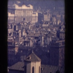 1959: this place is so beautiful but at the same time looks crowded ROME Stock Footage