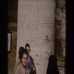 1959: visiting with the nuns out on the street. ROME Stock Footage