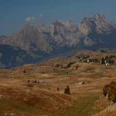 Landscape And Mountain View, Montenegro Stock Footage