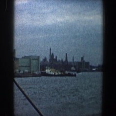 1960: viewing of a large, prestigious city. NEW YORK CITY Stock Footage