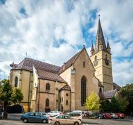 The Lutheran Cathedral of Saint Mary in Sibiu, Romania Stock Photos