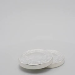 Silver Kangaroo Australian 1 oz Coin Being Held Isolated White, 4K Stock Footage