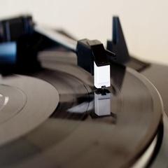 Vinyl record spinning Stock Footage