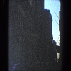 1960: skyscrapers with tapering ends high up in the sky NEW YORK CITY Stock Footage