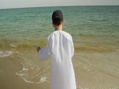 Boy having fun at the beach. Stock Footage