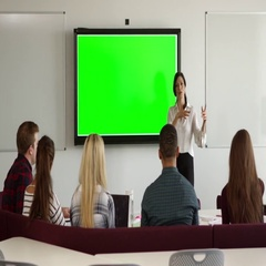 University Students Attending Campus Lecture Shot On R3D Stock Footage