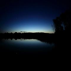 4K. Sunset on the river Seversky Donets. Koksoviy village, Rostov Region, Russia Stock Footage