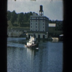 1961: a lady walks away from her group on the deck of a ship BALTIMORE MARYLAND Stock Footage