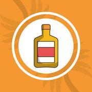 Liquor drink bottle Stock Illustration
