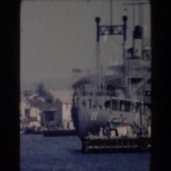 1961: world war 2 warships CALIFORNIA Stock Footage