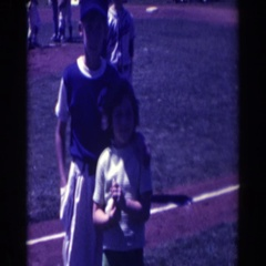 1961: the festivities of a baseball game. NORTH HOLLYWOOD, CALIFORNIA Stock Footage