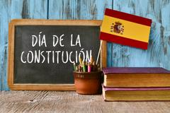 Text dia de la constitucion, constitution day written in spanish Stock Photos
