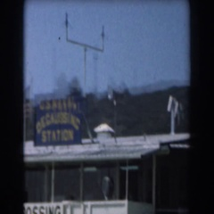 1961: standing still as the world goes around and around and passes us Stock Footage