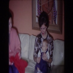 1961: little kids celebrating a cool birthday. NORTH HOLLYWOOD, CALIFORNIA Stock Footage