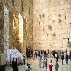 Jerusalem, Israel - Nov 06, 2016: View on Western Wall and entrance to synagogue Stock Footage