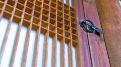 Japan ornament on wooden door Kuvituskuvat