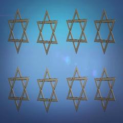 Stars of david, Computer animation Stock Footage