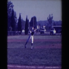 1961: people outside playing and having a great time NORTH HOLLYWOOD, CALIFORNIA Stock Footage