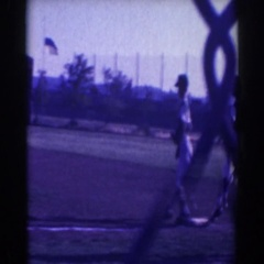 1961: baseball players in action. NORTH HOLLYWOOD, CALIFORNIA Stock Footage