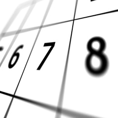 Calendar page with marked red date of 31st. Stock Footage