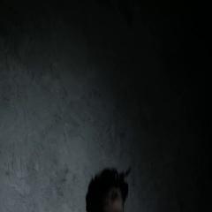 Dark portrait of evil witch in smoke. 4K UHD Stock Footage