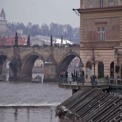 Karlov most Prague Stock Footage