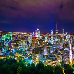 Montreal City At Night Time Lapse 4k  Arkistovideo