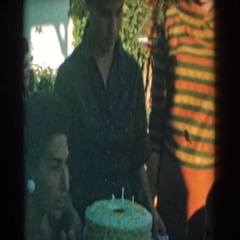 1962: family celebration to mark a good time among all in style GLENDALE Stock Footage