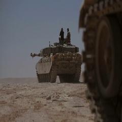 Battle tank shot. M1 Abrams Stock Footage