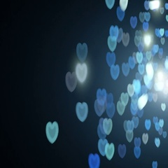 Bokeh Hearts Overlay Love Background Stock Footage