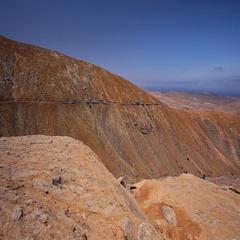 Vulcanic landscape of Fuerteventura Island, Canary Islands, Spain, Europe. Stock Footage