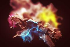 Varicolored dust storm, abstract 3d illustration Stock Illustration
