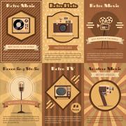 Retro Device Poster Stock Illustration