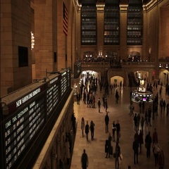 Busy people in a hurry timelapse Grand Central NYC New York City Stock Footage