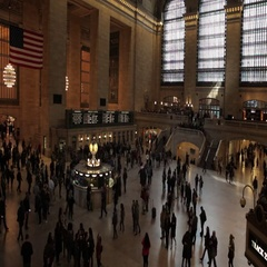 Busy people rush timelapse Grand Central station NYC New York City Stock Footage