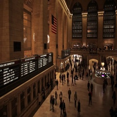 Timelapse of crowd of people hurry in Grand Central NYC New York City Stock Footage