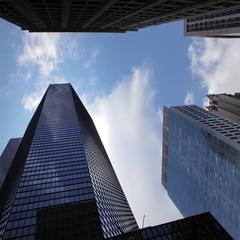 NYC New York City Manhattan skyscrapers timelapse Stock Footage