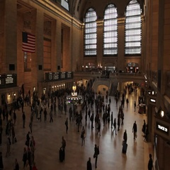 Timelapse view of busy people in Manhattan NYC New York City Stock Footage