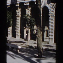 1960: people walking throughout the city. Stock Footage